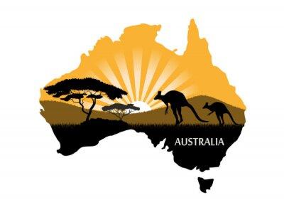 Plakat Australian continent