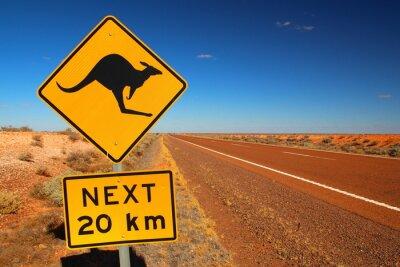 Plakat Australijski znak drogowy na autostradzie