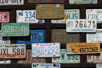 Plakat Autokennzeichen aus aller Welt