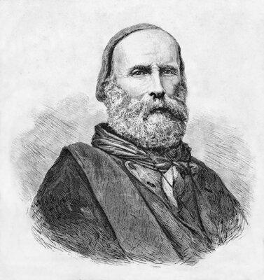 Plakat Autor: E. Matania opublikował na portalu Garibaldi ei Suoi Tempi Milan Italy 1884