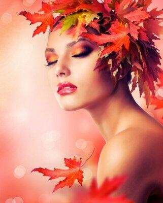 Plakat Autumn Fashion Beauty Portrait