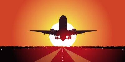 Plakat Avion-couche de soleil