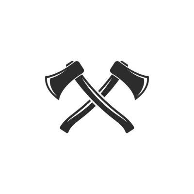 Plakat axe icon vector illustration design template