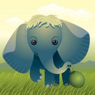 Plakat Baby gromadzenia zwierząt : Elephant . Inne zwierzęta w mojej galerii .