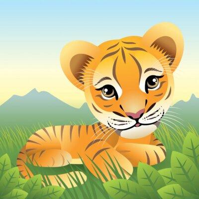 Plakat Baby gromadzenia zwierząt : Tiger . Inne zwierzęta w mojej galerii .
