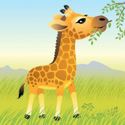Plakat Baby gromadzenia zwierząt : żyrafy . Inne zwierzęta w mojej galerii .