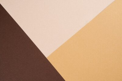 Plakat Background from recycled textured paper forming triangular shades of dark brown