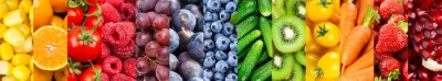 Plakat Background of fruits and vegetables. Fresh food. Healthy food