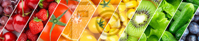 Plakat Background of fruits, vegetables and berries