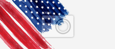 Plakat Background with USA painted flag