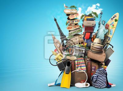 Plakat Bagażu, Wyrobów do świąt, wypoczynku i podróży