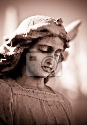 Plakat Bagienny młodych Anioł w odcieniach sepii