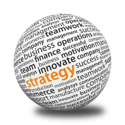 Plakat Ball Słowo - Strategia
