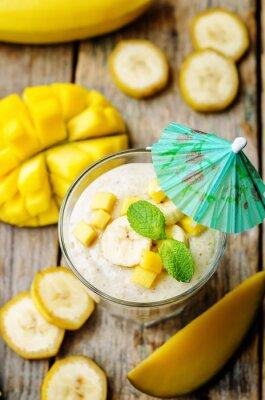 Plakat banana smoothie mango