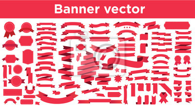 Plakat Banner vector icon set