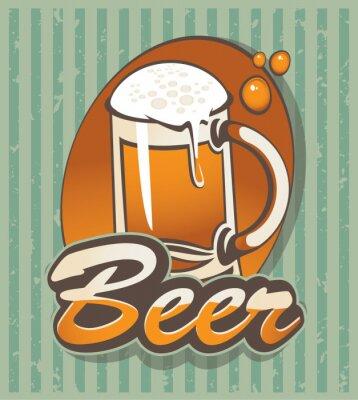 Plakat banner ze szklanką piwa