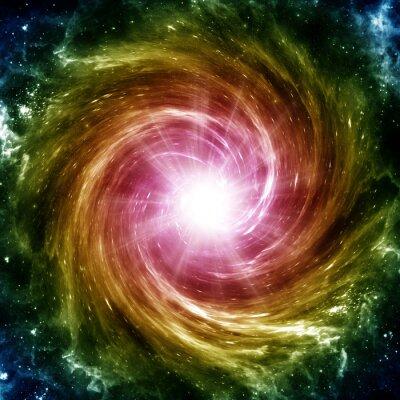 Plakat Barwne galaktyka spiralna