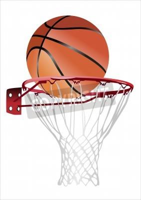 Plakat basketball hoop and ball (basketball hoop with basketball, basketball and hoop)