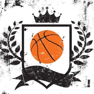 Plakat Basketball shield insignia