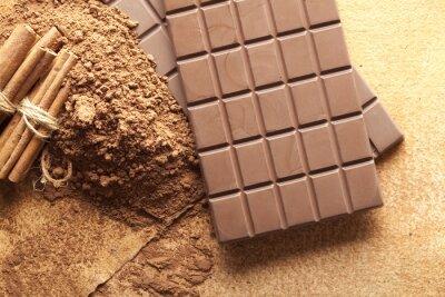 Plakat batony, kakao i cynamonu