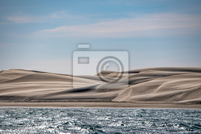 Plakat beach sand dunes in california landscape view Magdalena Bay mexico