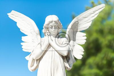 Plakat Beautiful angel on a clear blue sky