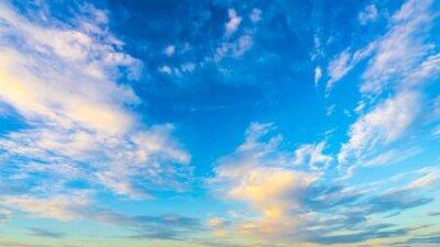 Plakat Beautiful blue cloudy sky.