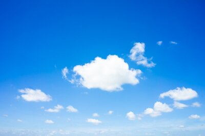 Plakat Beautiful clouds with blue sky natural background.