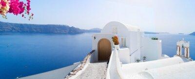 Plakat beautiful details of Santorini island, Greece