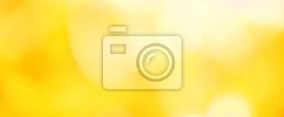 Plakat Beautiful Nature blurred yellow summer Background