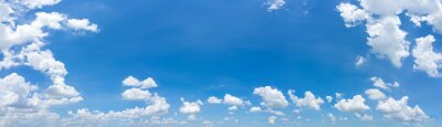 Plakat Beautiful panorama blue sky and clouds with daylight natural background.