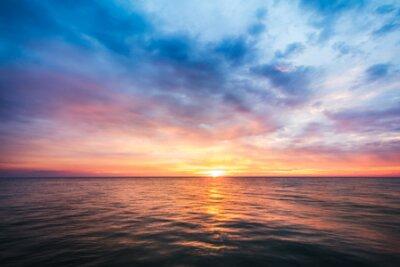 Plakat beautiful sunset on sea in Thailand