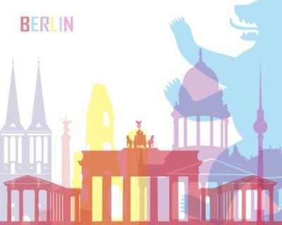 Plakat Berlin skyline pop