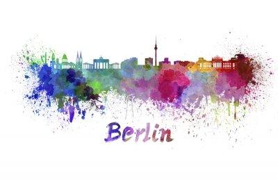 Plakat Berlin skyline w akwareli