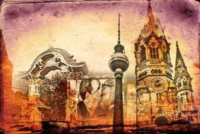 Plakat Berlin sztuki projektowania ilustracji
