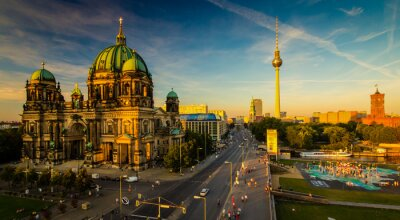 Plakat Berlin - widok na miasto