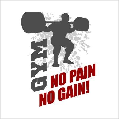 Plakat Bez bólu nie ma zysku - etykiety dla ulotek plakatów logo T-Shirt Drukuj