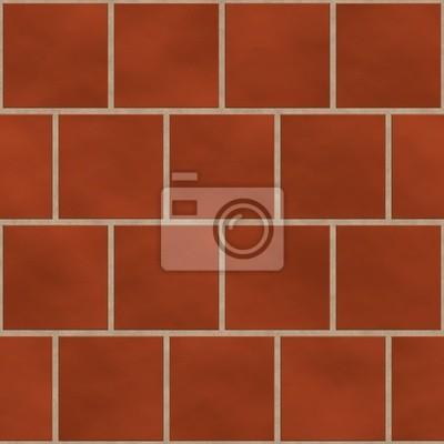 Plakat Bez szwu czerwony (cegła itp.) płytki kwadratowe tekstury w angielski chlewie