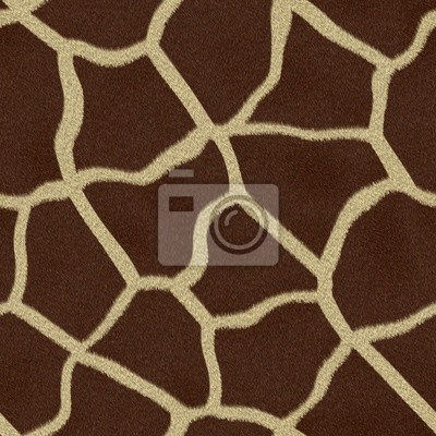 Plakat Bez szwu tekstury futra żyrafa
