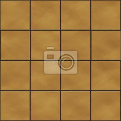Plakat Bez szwu tekstury kwadratowych płytek żółty