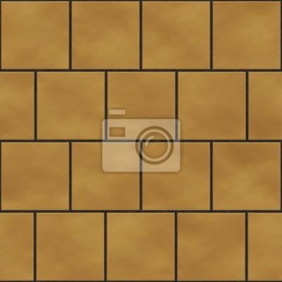 Plakat Bez szwu tekstury kwadratowych płytek żółty w stylu angielskim positio