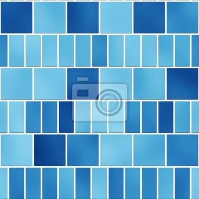 Plakat Bez szwu tekstury niebieskie płytki w stylu angielskim