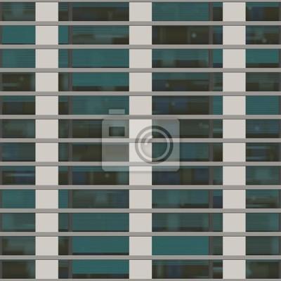 Plakat Bez szwu tekstury przypominające okna budynku