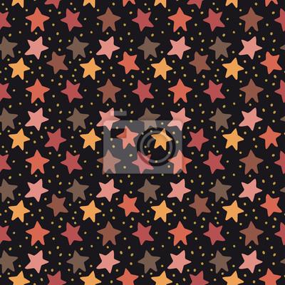 bez szwu wektor wzór gwiazdy Boże Narodzenie