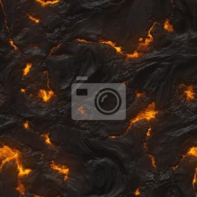 Plakat Bezproblemowa magma lub faktura lawa