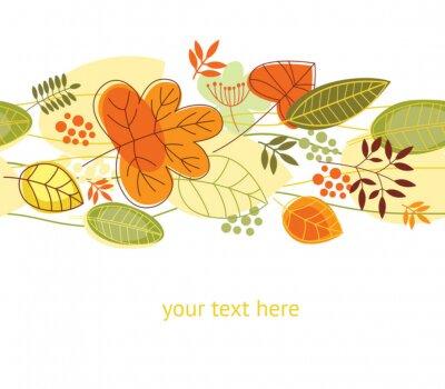 Plakat bezszwowe tło jesień