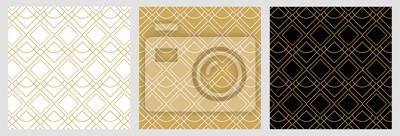 Bezszwowy abstrakta wzór na bożego narodzenia tle z eleganckimi złotymi wektorowymi liniami