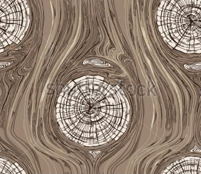 Plakat Bezszwowy Deseniowy Drewniany tekstura zmrok
