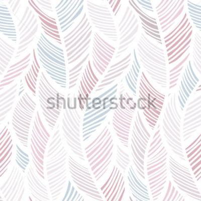 Plakat Bezszwowy tło wzór z abstrakcjonistycznymi piórkami. Illuctration wektor.