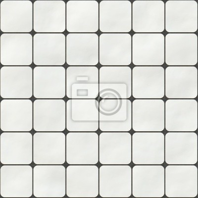 Plakat Bezszwowych tekstur z kwadratowych płytek z białych okrągłych narożników